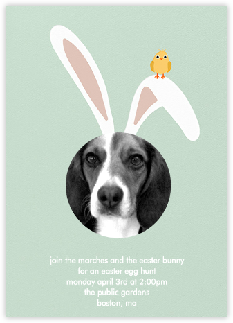 Bunny Ears - Mint - Paperless Post - Easter Invitations