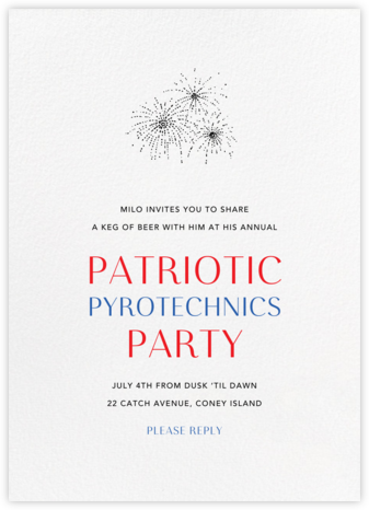 White (Tall) - Paperless Post - 4th of July invitations