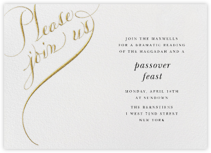 passover invitations online at paperless post