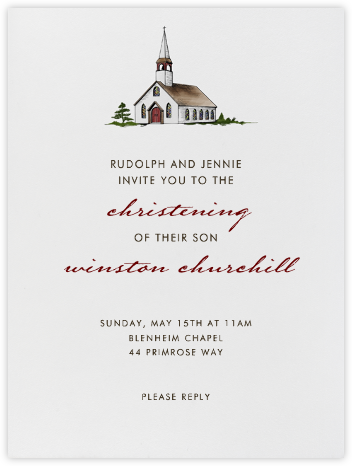 Country Church (Ivory) - Paperless Post - Baptism invitations