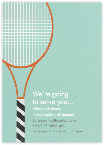 Tennis Racquet - Paperless Post - Summer Party Invitations