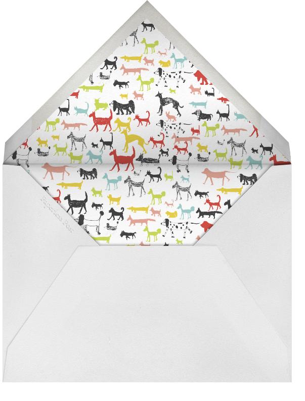 Calling all Dogs - Tomato - Mr. Boddington's Studio - Kids' Birthday Invitations - envelope back
