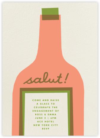 Wine Salut - Peach - The Indigo Bunting - Rehearsal dinner invitations