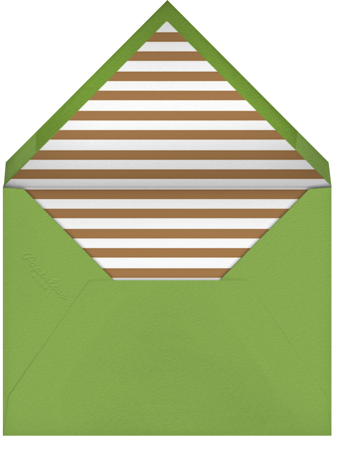 Wine Salut - Green - The Indigo Bunting - Engagement party - envelope back