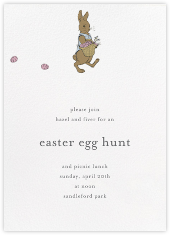 Easter Bunny (Ivory) - Paperless Post - Easter Invitations