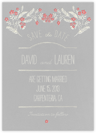 Chic Florette - Crate & Barrel - Save the dates