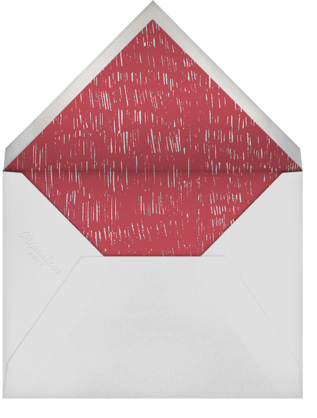 Whats Cooking? - Square (Cranberry And Celadon) - Paperless Post - Bridal shower - envelope back