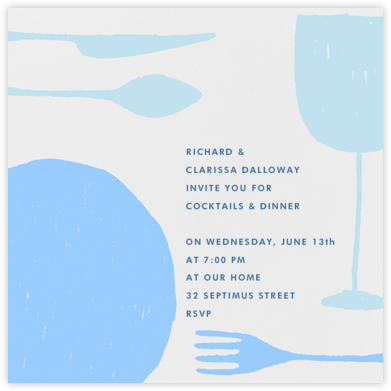Place Setting (Square) - Light Blue - Paperless Post -