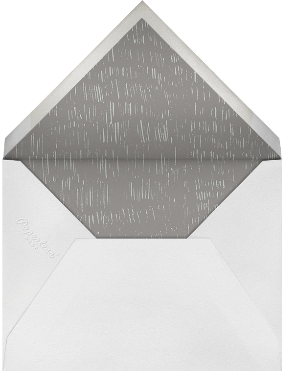 Place Setting (Square) - Gray - Paperless Post - Rehearsal dinner - envelope back