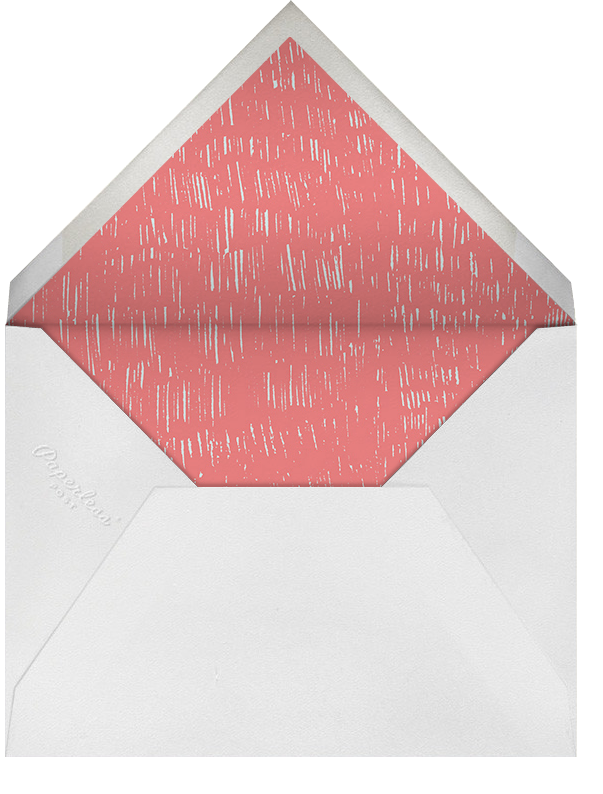 Pour Me A Cup - (Coral And Celadon) - Paperless Post - Wedding brunch - envelope back