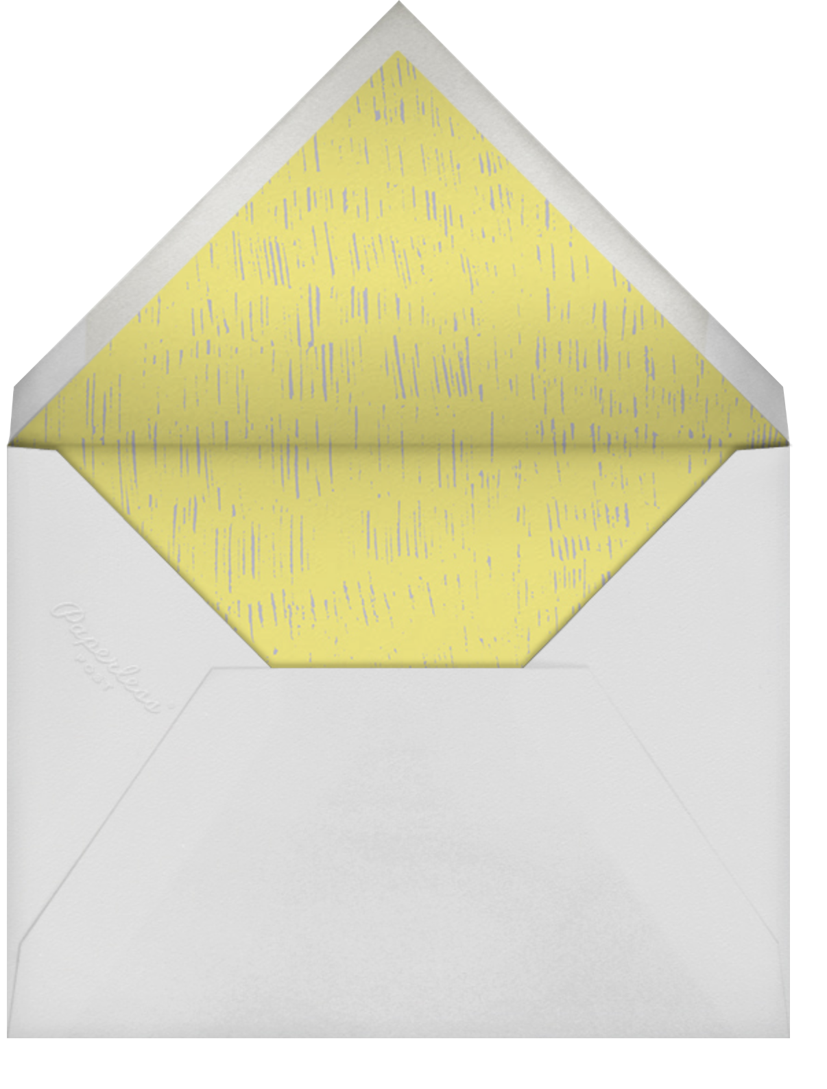 Pour Me A Cup - (Chartreuse And Gray) - Paperless Post - Bridal shower - envelope back