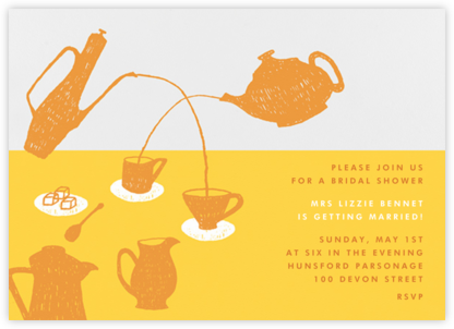 Pour Me A Cup - (Citrus And Mango) - Paperless Post - Bridal shower invitations