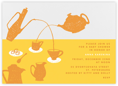Pour Me A Cup - (Citrus And Mango) - Paperless Post - Baby Shower Invitations