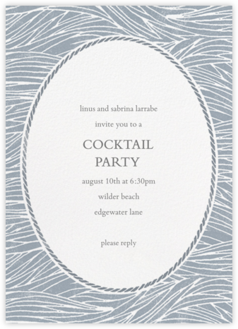 Vintage Wave - Tall - Paperless Post - General Entertaining Invitations