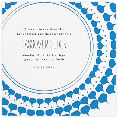 Spec in Capri - Blue - Mr. Boddington's Studio - Passover invitations