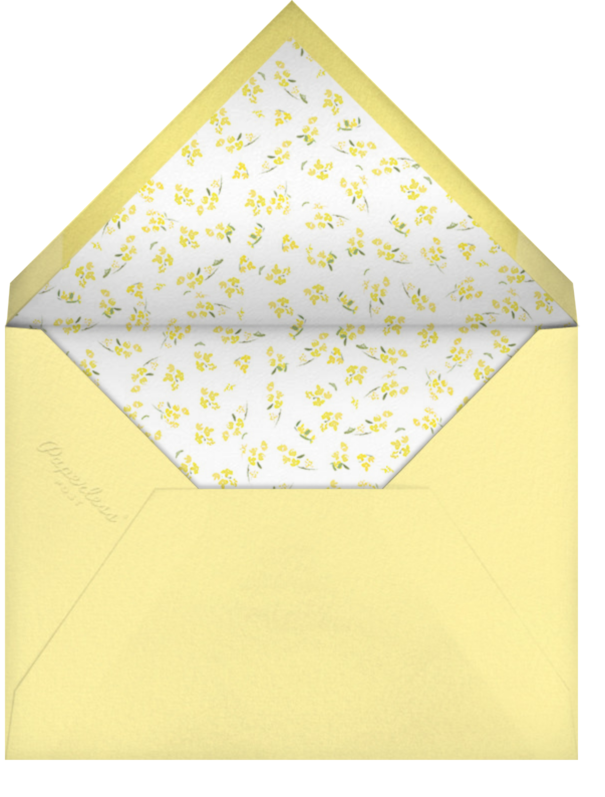 Heathers (Square) - Yellow - Paperless Post - Graduation party - envelope back