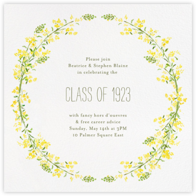 Heathers (Square) - Yellow - Paperless Post - Graduation Party Invitations