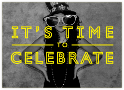 It's Time To Celebrate - Yellow - Paperless Post - Celebration invitations