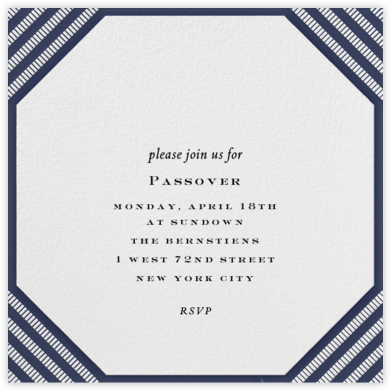 Claridge (Square) - Navy - Paperless Post - Passover invitations