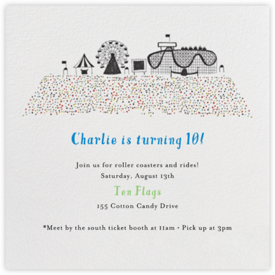 Coney Island Summer - Mr. Boddington's Studio - Online Kids' Birthday Invitations