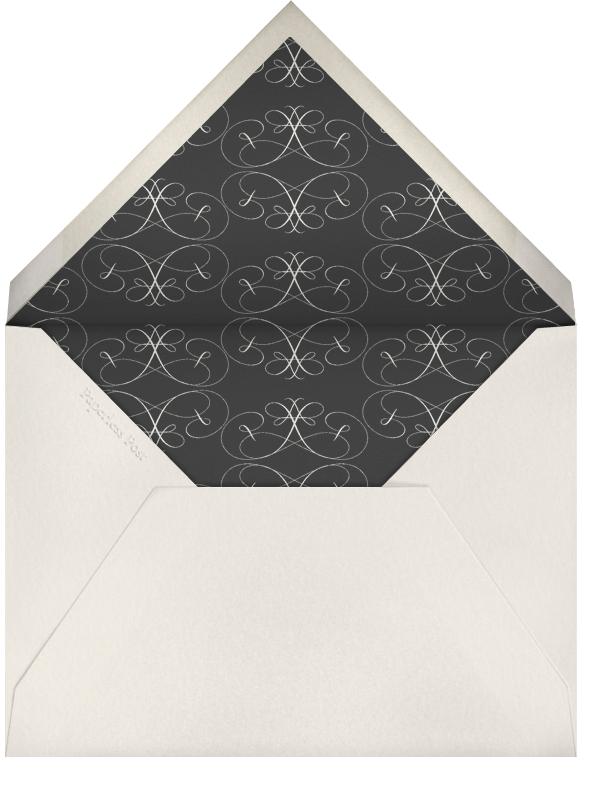 Flourish - Cream Black - Bernard Maisner - Bar and bat mitzvah - envelope back