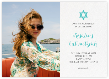 Photo Spread - White - Paperless Post - Bar and Bat Mitzvah Invitations
