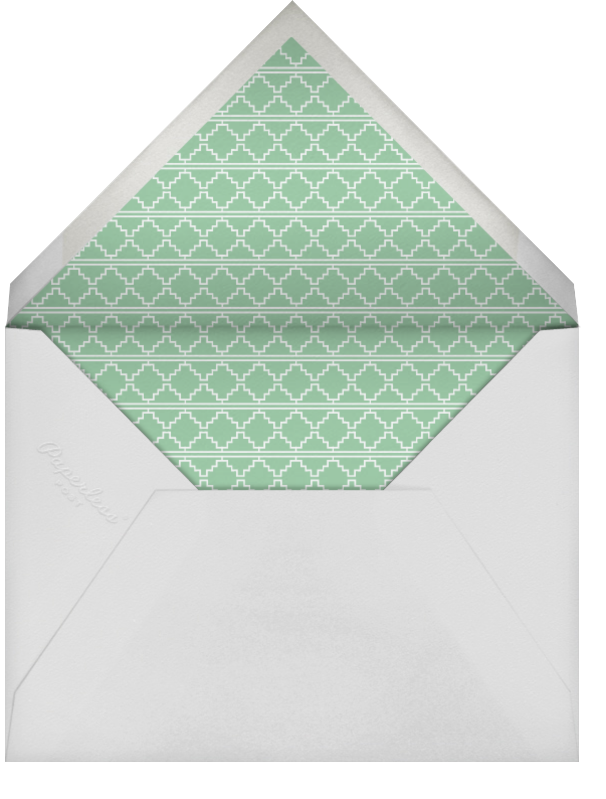 Are You Engaged - Greens - Mr. Boddington's Studio - Engagement party - envelope back
