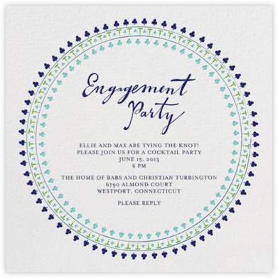 Are You Engaged - Greens - Mr. Boddington's Studio - Engagement party invitations