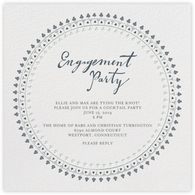 Are You Engaged - Grays - Mr. Boddington's Studio - Engagement party invitations
