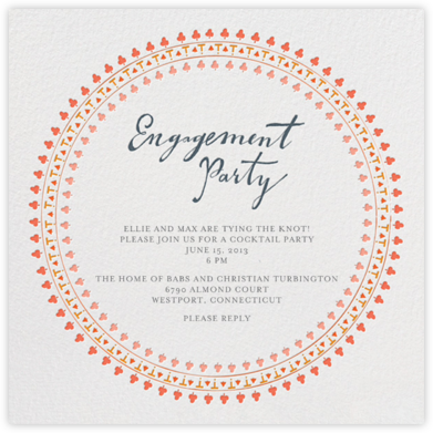 Are You Engaged - Pinks - Mr. Boddington's Studio - Engagement party invitations