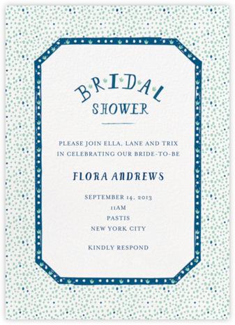 Croissants for the Bride - Dark Blue - Mr. Boddington's Studio - Bridal shower invitations