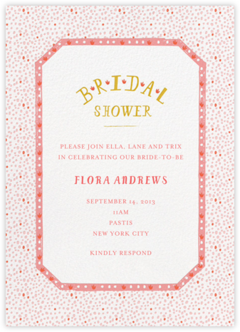 Croissants for the Bride - Papaya - Mr. Boddington's Studio - Bridal shower invitations