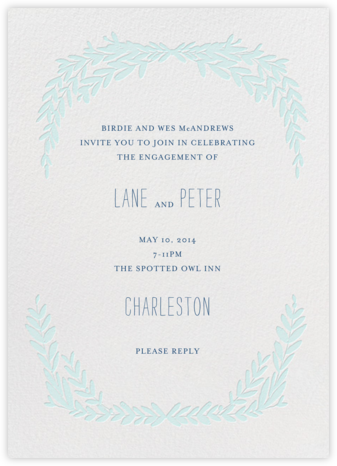 Laurel in Love - Powder - Mr. Boddington's Studio - Engagement party invitations