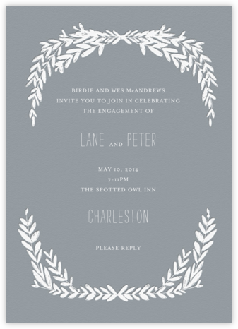 Laurel in Love - Gray - Mr. Boddington's Studio - Engagement party invitations