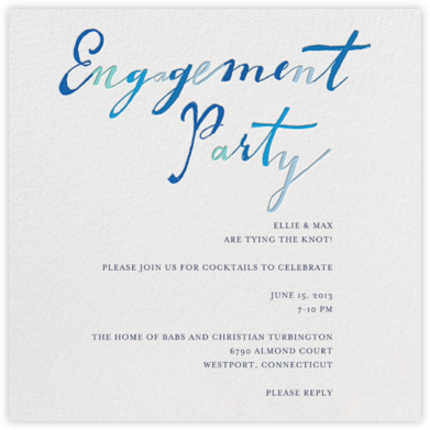Let the Parties Begin - Mr. Boddington's Studio - Engagement party invitations