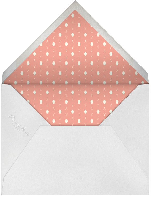 Roses for the Bride and Groom - Pinks - Mr. Boddington's Studio - Rehearsal dinner - envelope back