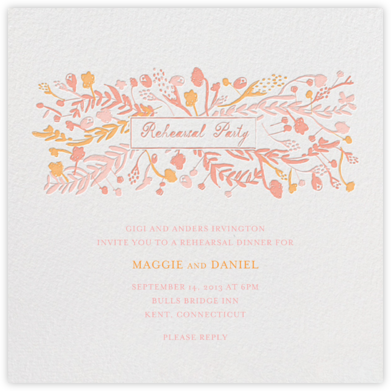 Roses for the Bride and Groom - Pinks - Mr. Boddington's Studio - Wedding Weekend Invitations
