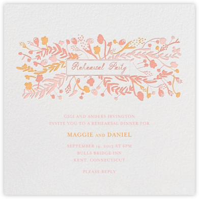 Roses for the Bride and Groom - Pinks - Mr. Boddington's Studio - Rehearsal dinner invitations