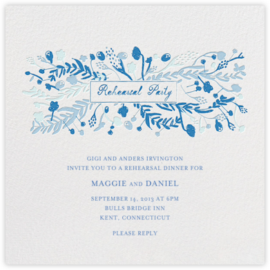 Rehearsal dinner invitations online at paperless post roses for the bride and groom stopboris Choice Image