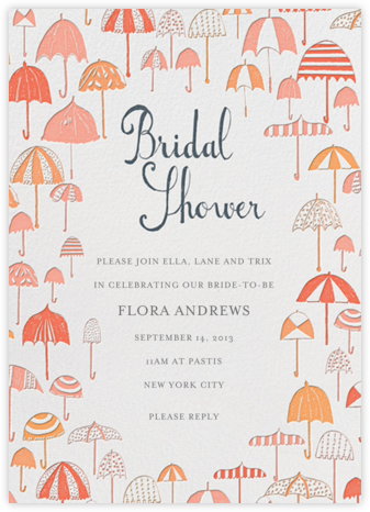 Umbrella Shower - Pinks - Mr. Boddington's Studio - Bridal shower invitations