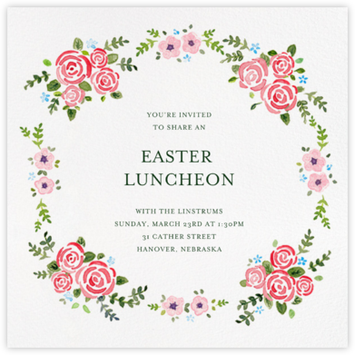 Rose Garland - Paperless Post - Easter Invitations
