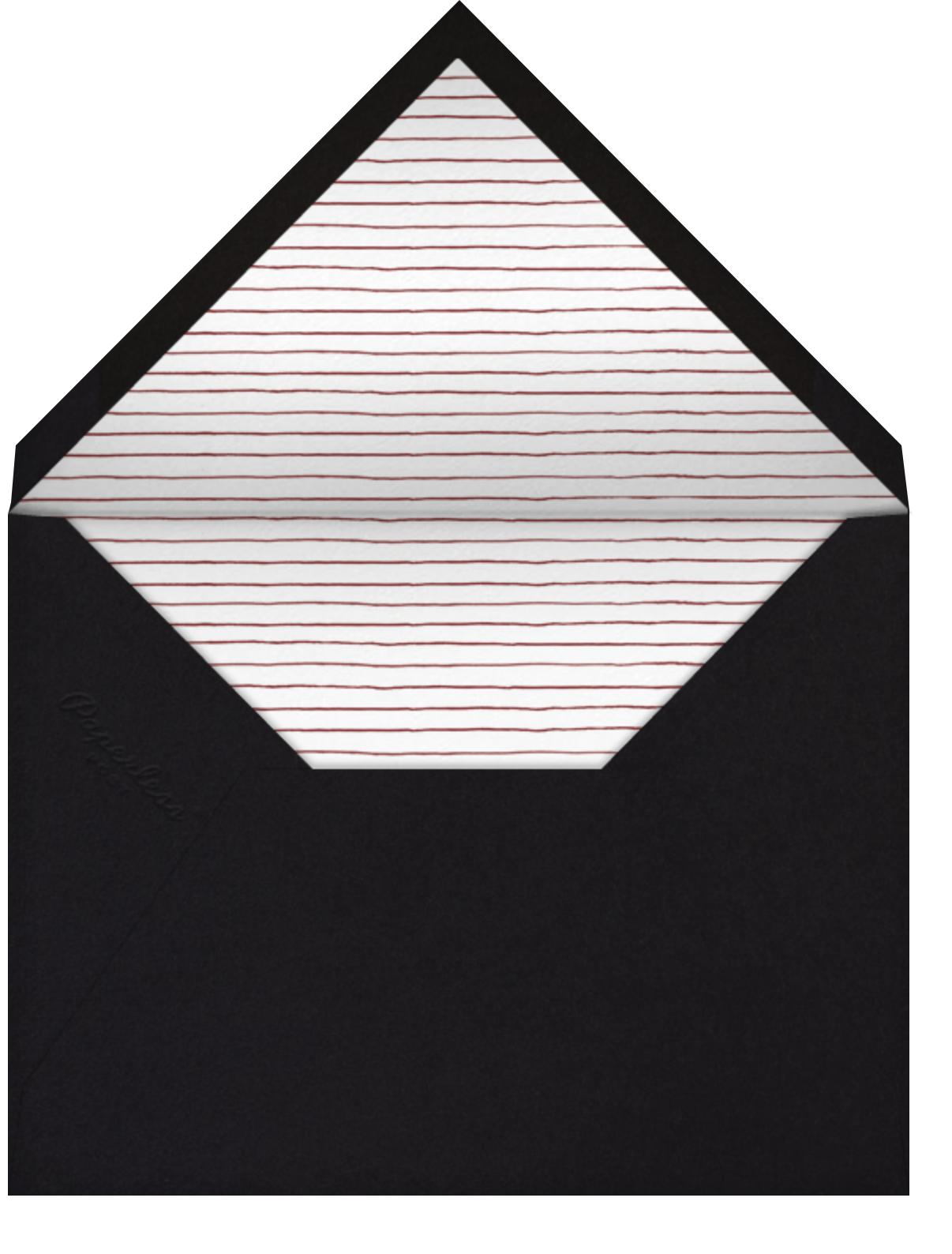 Madame X - Paperless Post - Adult birthday - envelope back