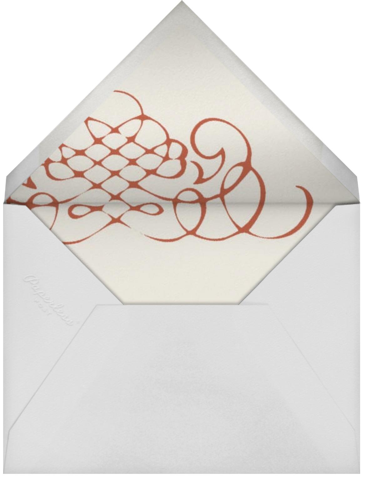 Antique Press- Cream with Blood Orange (Horizontal) - Paperless Post - Envelope