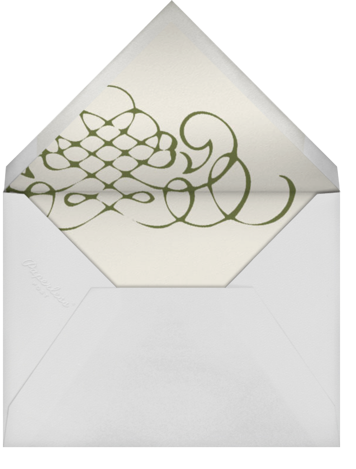 Antique Press- Cream with Olive (Horizontal) - Paperless Post - General - envelope back