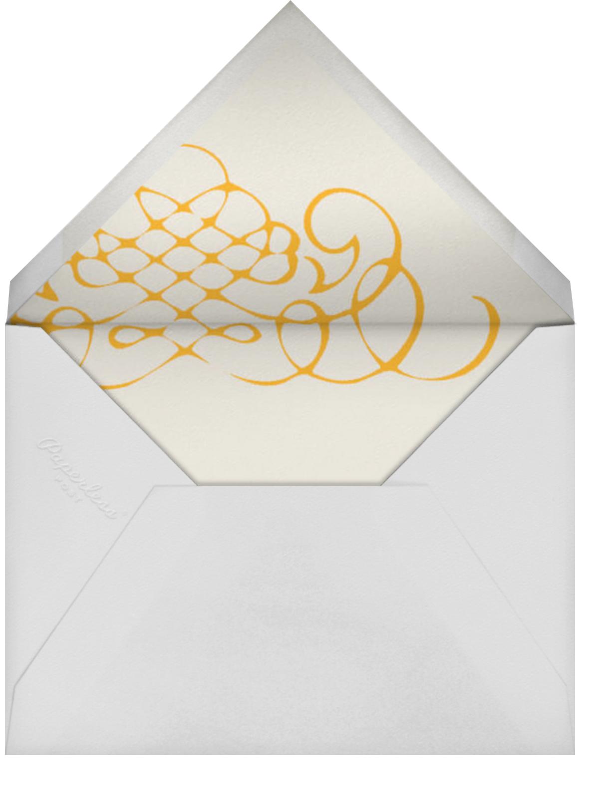 Antique Press- Cream with Mango (Horizontal) - Paperless Post - Envelope