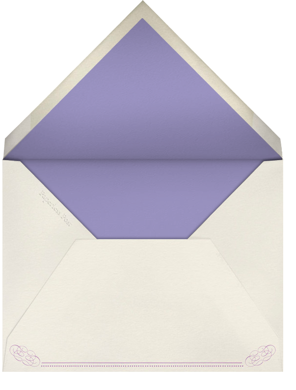 Antique Press (Save The Date) - Lilac/Cream - Paperless Post - null - envelope back