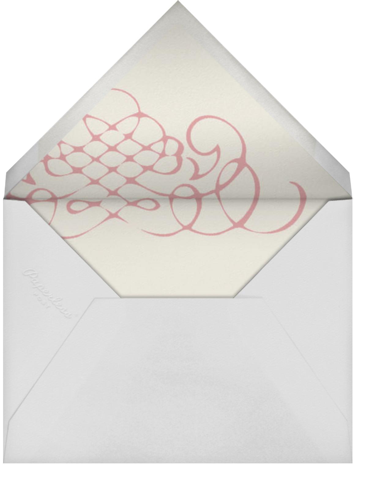 Antique Press- Cream with Tea Rose (Horizontal) - Paperless Post - Envelope