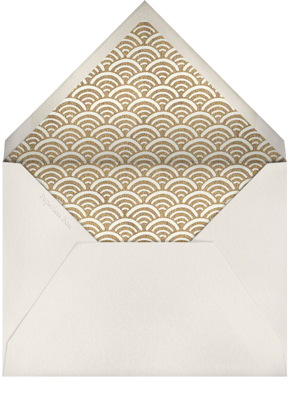 Dragonfly (Cream) - Paperless Post - Personalized stationery - envelope back