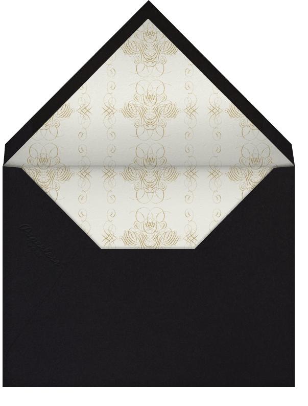 Engagement - Black - Bernard Maisner - Engagement party - envelope back