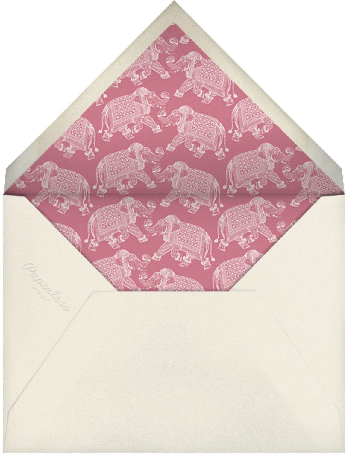 Engraved Elephant - Bernard Maisner - Engagement party - envelope back